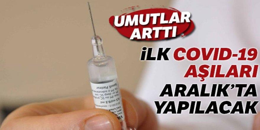 İlk Covid-19 aşıları aralıkta yapılacak