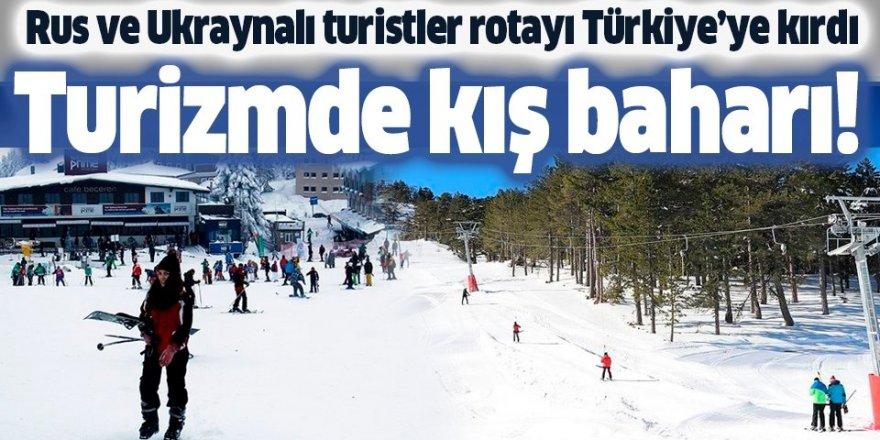 Rus ve Ukraynalı turistler rotayı Türkiye'ye kırdı