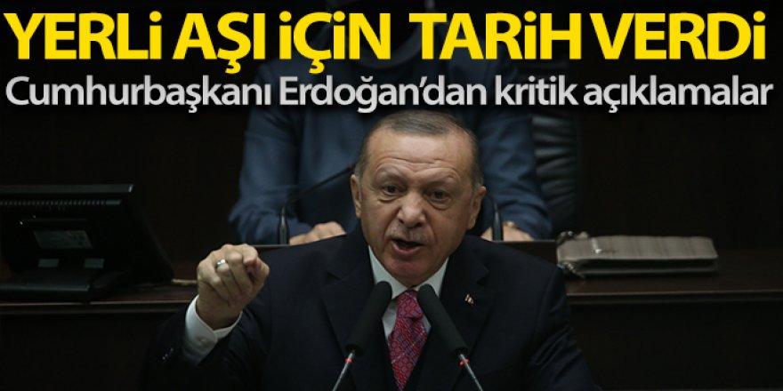Erdoğan:'Kendi aşımızı en geç Nisan ayında uygulamayı planlıyoruz'
