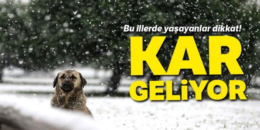Kar geliyor! 28 Kasım Hava Durumu
