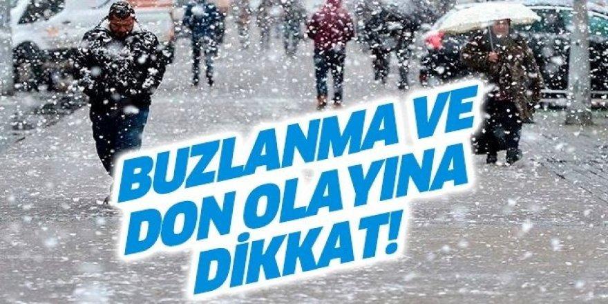 Doğu Anadolu'da buzlanma ve don uyarısı