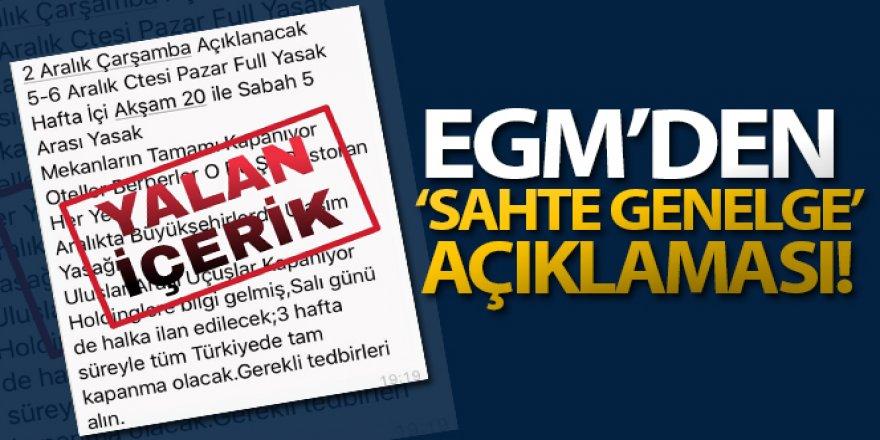 EGM: 'Bazı sosyal medya platformlarında 'Genelge' başlığı ile paylaşılan belgeler sahtedir'