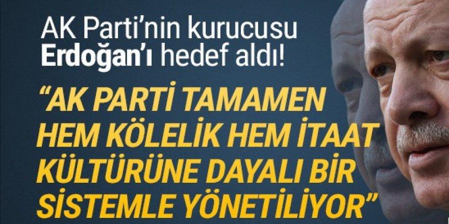 AK Parti'nin kurucusu, AK Parti'yi yerden yere vurdu