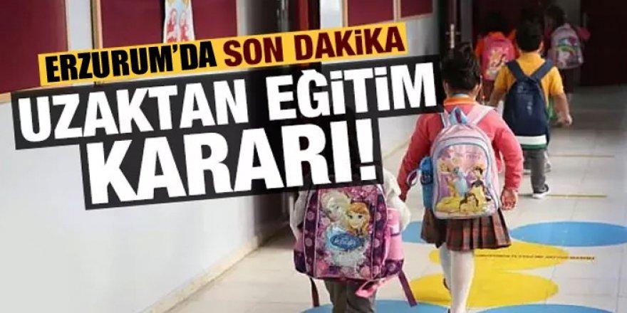 Erzurum'da son dakika uzaktan eğitim kararı!