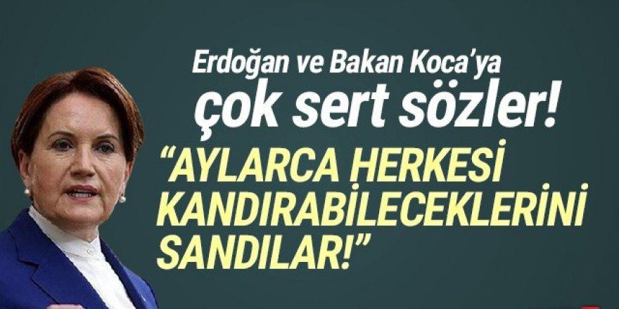 Akşener'den Erdoğan'a: ''Herkesi kandırabileceklerini sandılar''
