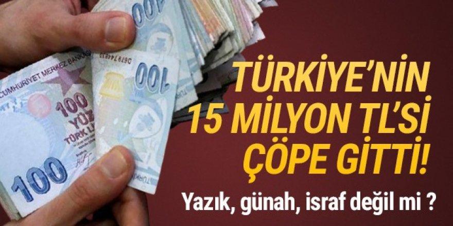 AK Partili belediye 15 milyon TL'yi çöpe attı