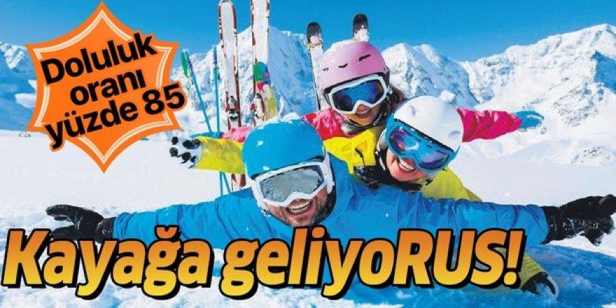 Rus ve Ukraynalı turistler kayak için rotasını Türkiye'ye çevirdi