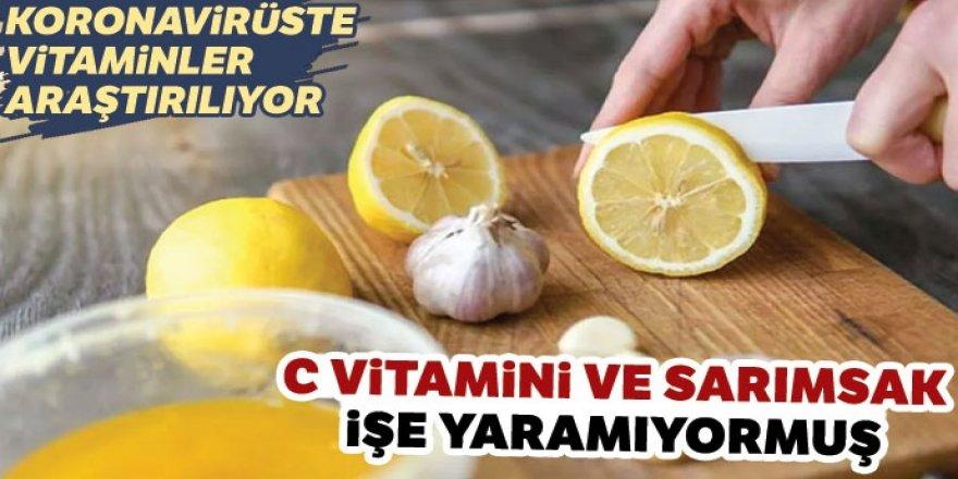 C vitamini ve sarımsak işe yaramıyormuş!