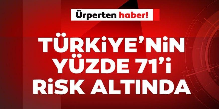 : Türkiye'nin yüzde 71'i deprem riskine sahip! Korkutan açıklama