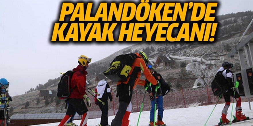 Palandöken'de sokağa çıkma kısıtlaması öncesi kayak heyecanı