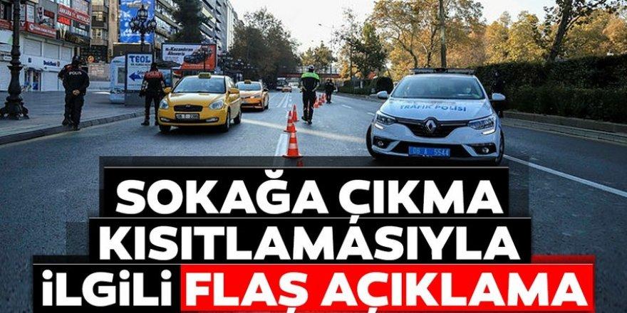 İçişleri Bakanı Süleyman Soylu'dan sokağa çıkma kısıtlaması açıklaması