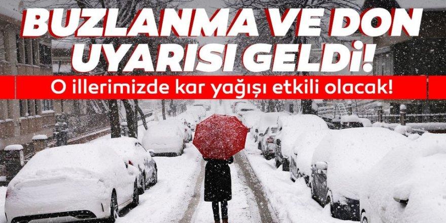 Doğu Anadolu'da kar, buzlanma ve don olayı bekleniyor