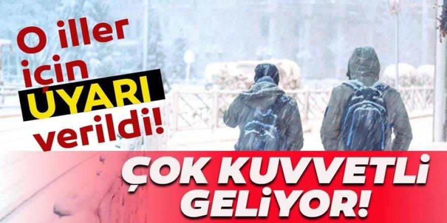 Doğu Anadolu'daki 4 ilde karla karışık yağmur ve kar bekleniyor