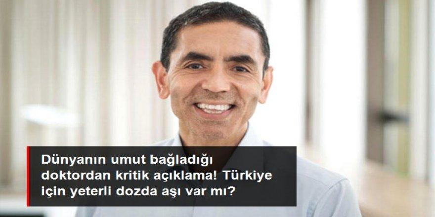 Prof. Dr. Uğur Şahin'den Türkiye için aşı açıklaması: Yeterli doz depoladık