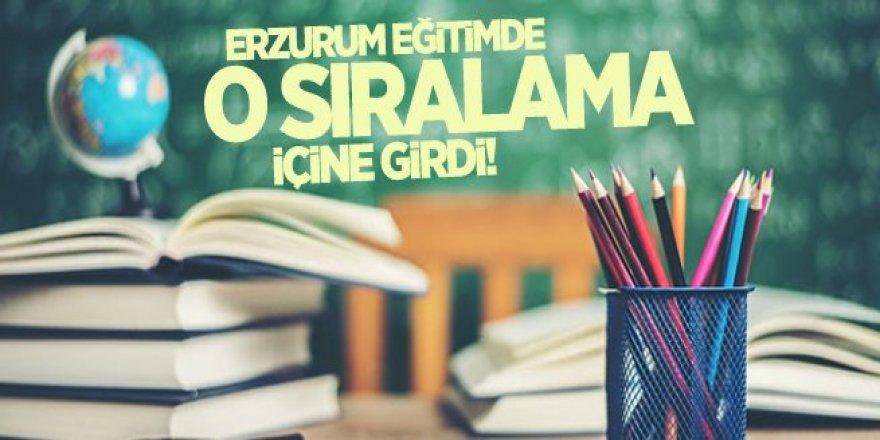Erzurum eğitimde o sıralamaya girdi!