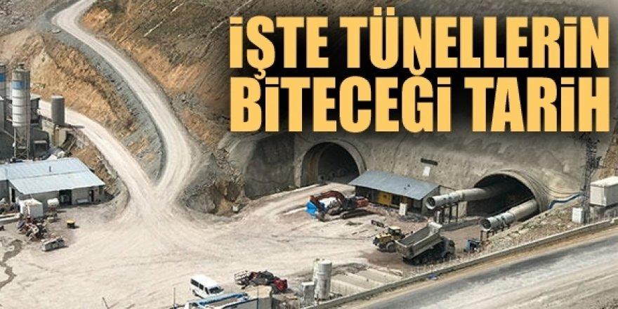 Tüneller 2023'e kadar tamamlanacak
