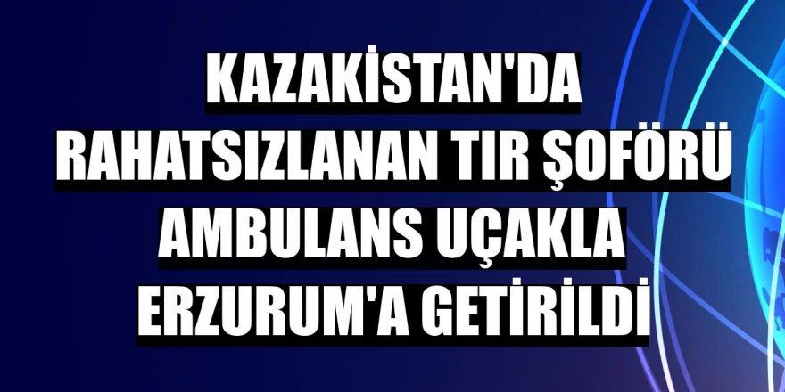 Şehit babası ambulans uçakla Erzurum'a getirildi