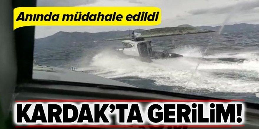 Kardak Kayalıkları'nda gerilim! Sahil Güvenlik 2 Yunan botuna müdahale etti.