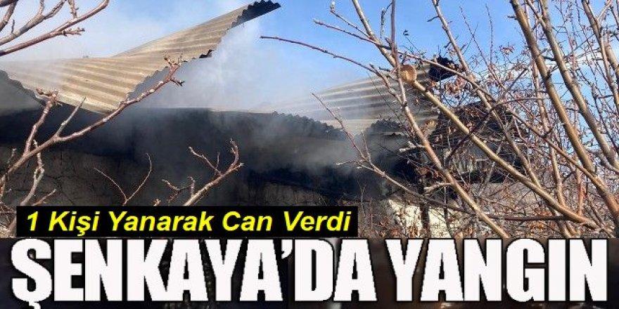 Şenkaya'da yangın; bir kişi hayatını kaybetti