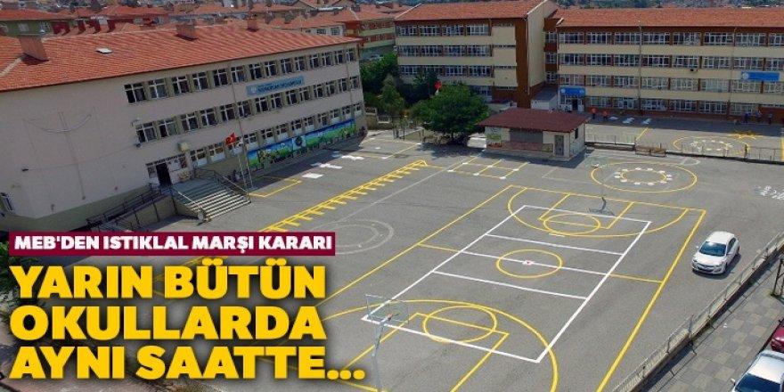 MEB'den İstiklal Marşı kararı: Yarın bütün okullarda aynı saatte...