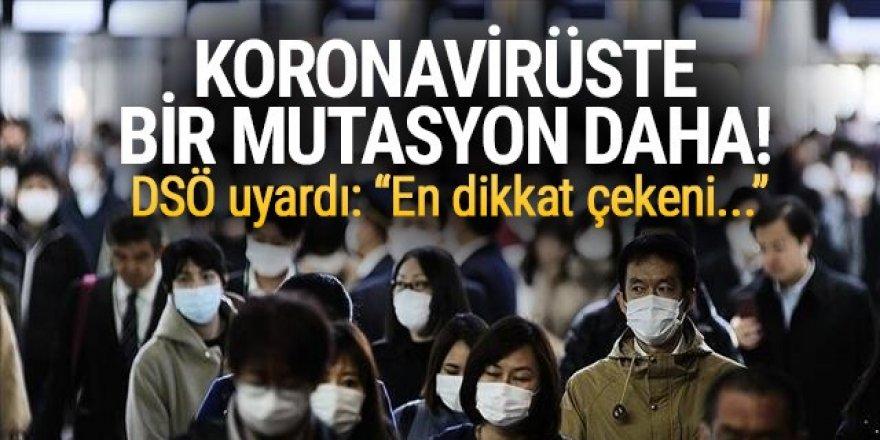 Koronavirüsün yeni bir mutasyonu tespit edildi! DSÖ'den açıklama