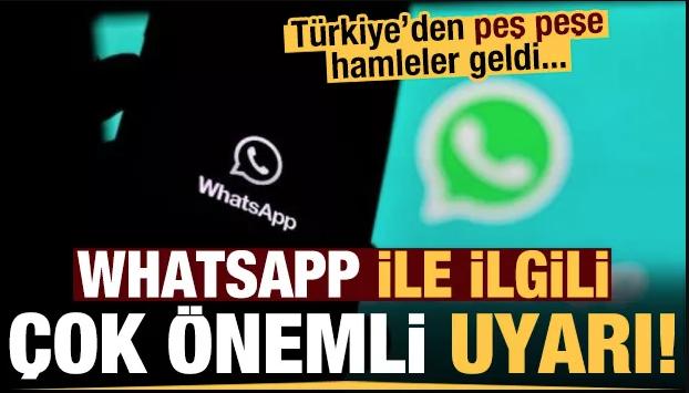 Çok önemli 'WhatsApp' uyarısı...