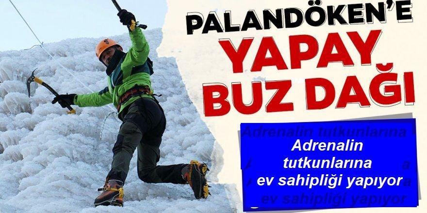 """Palandöken'in """"buz dağı"""" adrenalin tutkunlarına ev sahipliği yapıyor"""