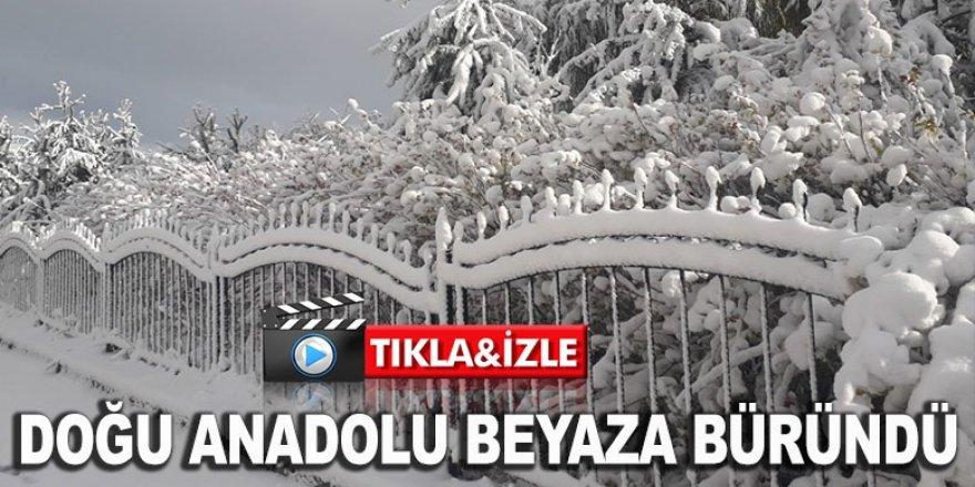 Doğu Anadolu kar yağışıyla beyaza büründü