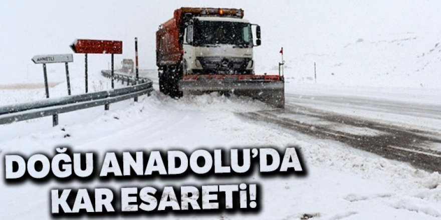 Doğu Anadolu'da 527 köy ve mahalle yolu ulaşıma kapandı