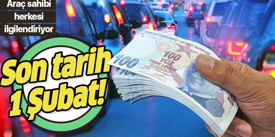 Motorlu taşıtlar vergisinde (MTV) ödeme dönemi başladı!