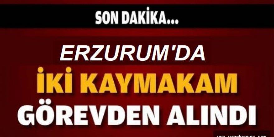 Erzurum'da İki Kaymakam Görevden Alındı
