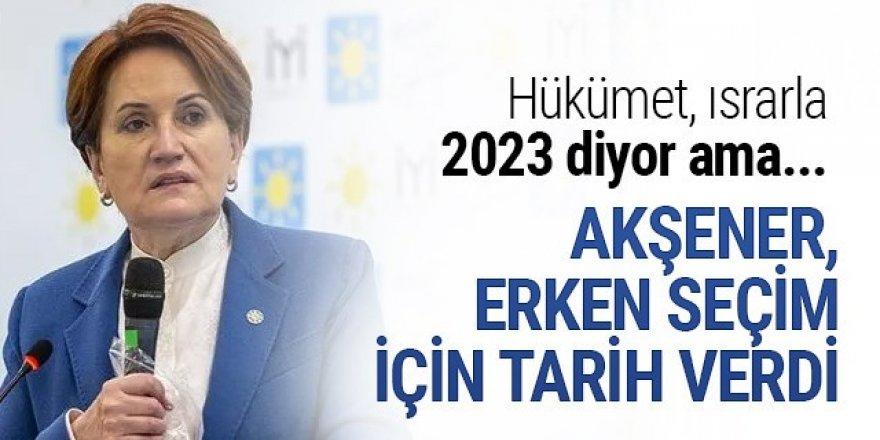 Akşener: Haziran gibi, 2021'de erken seçim bekliyorum