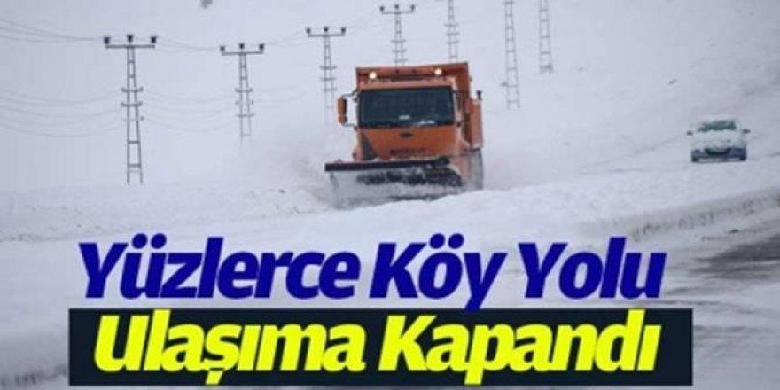 1272 köy ve mahalle yolu ulaşıma kapandı
