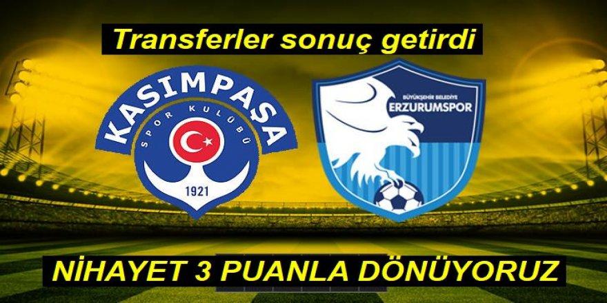 Kasımpaşa: 1 - BB Erzurumspor: 2