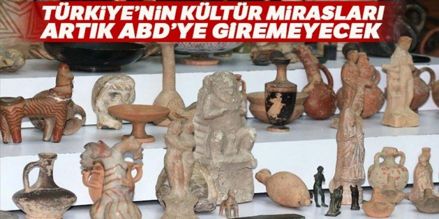 Türkiye'nin kültür mirasları artık ABD'ye giremeyecek