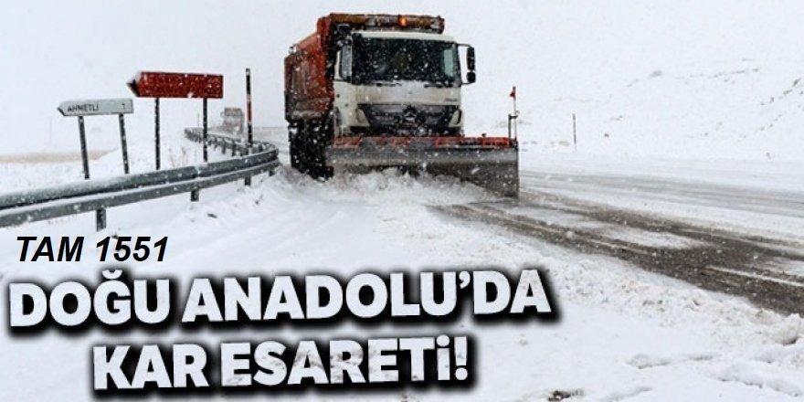 Doğu'da 1551 köy ve mahalle yolu ulaşıma kapandı
