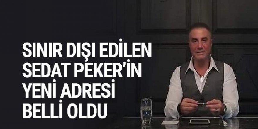 Sınır dışı edilen Sedat Peker'in yeni adresi belli oldu