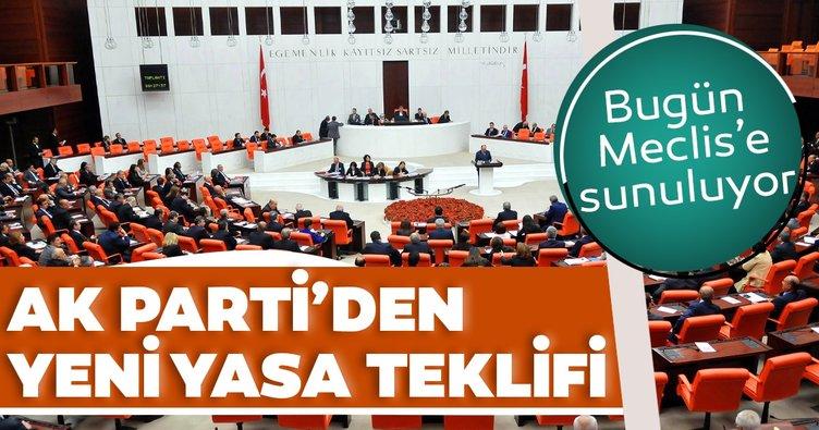 AK Parti'den yeni yasa teklifi!