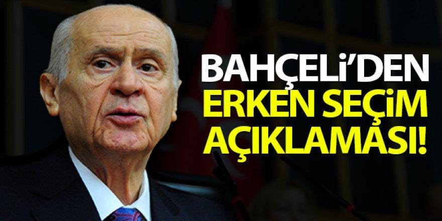 Bahçeli: Erken seçim dayatması Türkiye'nin kaosa sürüklenme amacının gizemli ve şifreli kılıfı