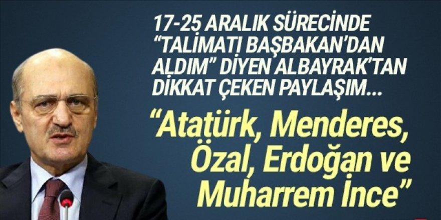 Erdoğan Bayraktar'dan çok konuşulacak Muharrem İnce paylaşımı