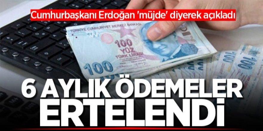 Cumhurbaşkanı Erdoğan: 'Esnaf ve sanatkarların faiz destekli kredilerinde 6 aylık taksitleri ertelenecek'