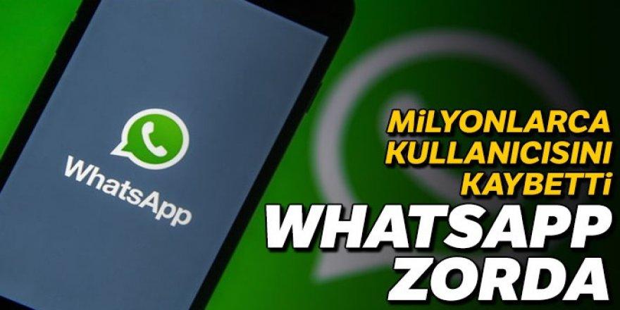 WhatsApp zorda! Milyonlarca kullanıcısını kaybetti