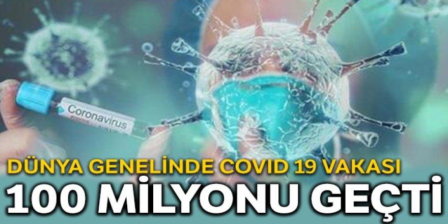 Dünyada korona virüs vakası 100 milyonu geçti