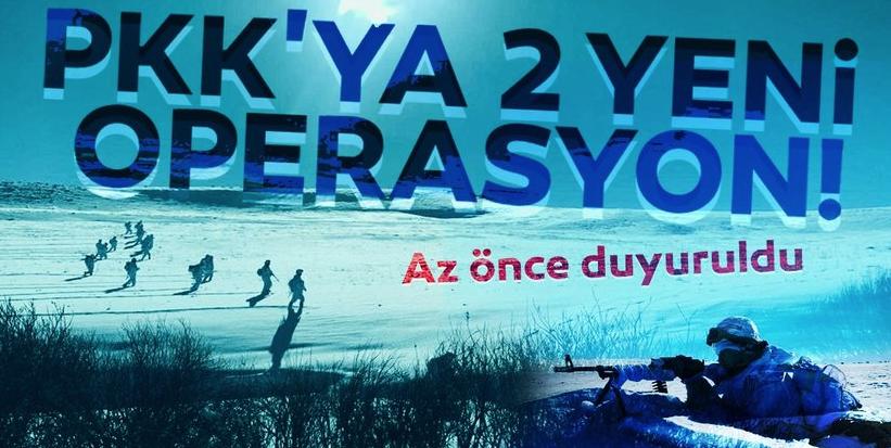 Terör örgütü PKK'ya iki yeni operasyon! İşte ilk görüntüler...