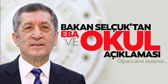 Bakanı Ziya Selçuk'tan son dakika EBA açıklaması