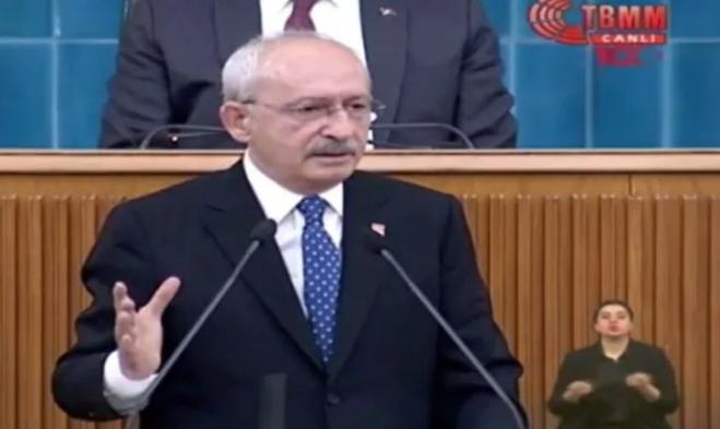 Kılıçdaroğlu'nun kürsüdeki öfkeli hali dikkat çekti!