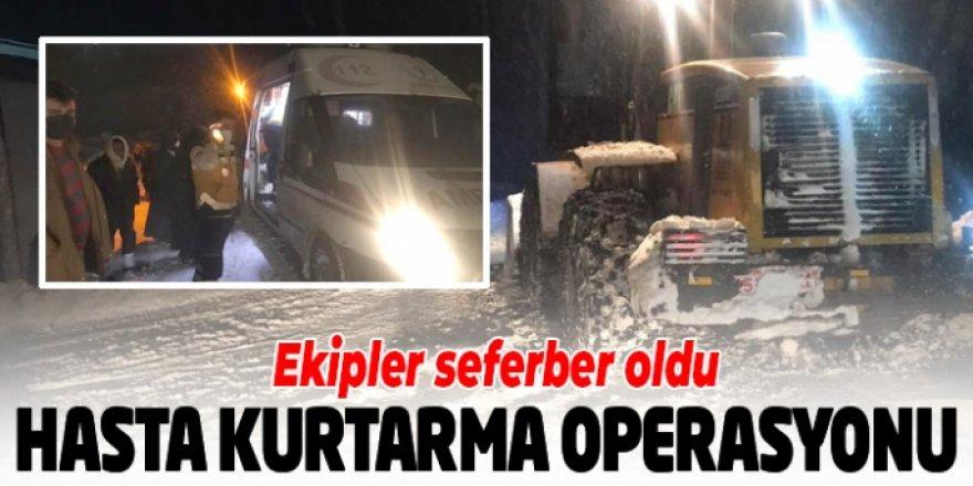 Erzurum'da hasta kurtarma operasyonu