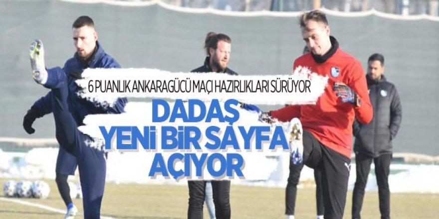 6 puanlık Ankaragücü maçı hazırlıkları sürüyor