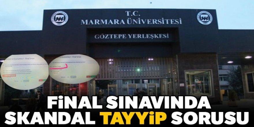 Final sınavında skandal Tayyip sorusu