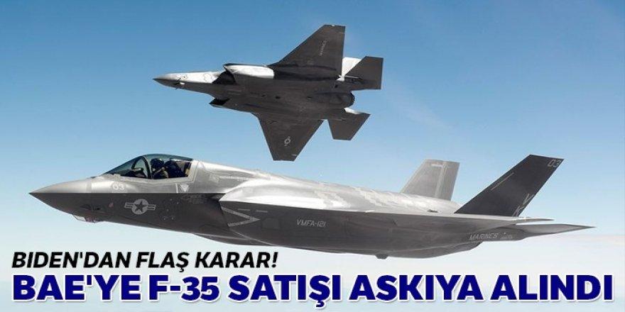 Biden'dan flaş karar: BAE'ye F-35 satışı askıya alındı